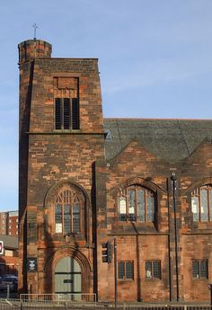 Entrance of Queen's Cross Church, Glasgow - designed by Charles Rennie Mackintosh