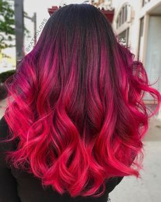 How to get pink ombré hair - 17 cute ideas for 2020 # be .- Wie man rosa Ombré-Haare bekommt – 17 süße Ideen für 2020 How to get pink ombré hair – 17 cute ideas for 2020 # - Cute Hair Colors, Beautiful Hair Color, Hair Dye Colors, Cool Hair Color, Different Red Hair Colors, Magenta Hair Colors, Dyed Hair Ombre, Pink Ombre Hair, Dye Hair