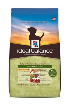 Hills Ideal Balance Chicken and Brown Rice Recipe Dog Food Bag