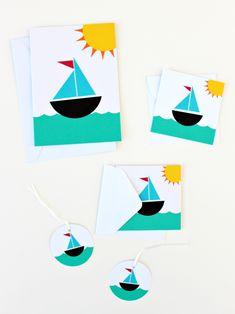 SAIL BOAT 5-PIECE BUNDLE Diy Crafts For Kids Easy, Easy Diy, Craft Shop, Envelopes, Crafting, Paper Crafts, Boat, Seasons, Fun