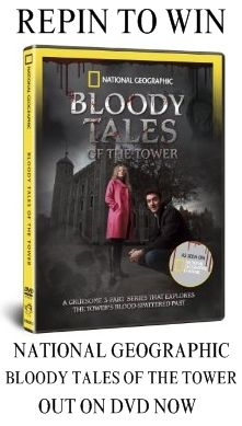 Nat Geo's Bloody Tales of the Tower DVD is out today! Repin with the hash tag #BloodyTalesDVD to be in with a chance of winning 1 of 10 free copies!!