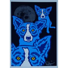 George Rodrigue Blue Dog Workin' My Way To The