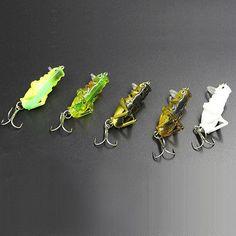 5 Hard Bait Crankbait Blank Minnow Grasshopper Fishing Lures 7.5g//5.5cm DIY HI
