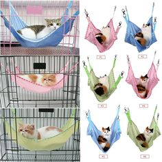 Cat Cage Hammock, Comfortable Pet Hanging Bed Breathable Mesh, for Cute Small Pet Cat Dog Animals Sleep Pad *** Click image for more details. (This is an affiliate link and I receive a commission for the sales)