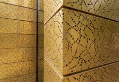 RMIG: TECU® Gold, perforated facade, Bang & Olufsen Store, Herning