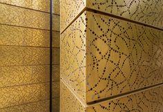 RMIG: TECU® Gold, perforated facade, Bang & Olufsen Store, Herning