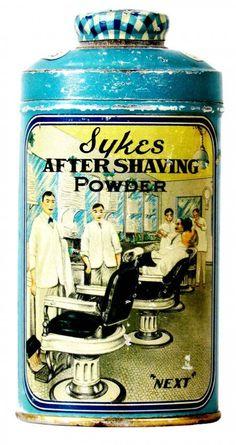 Rare Sykes After Shaving Powder Tin