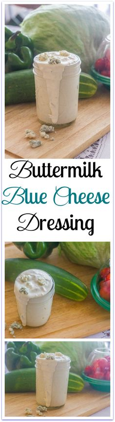 Buttermilk Blue Cheese Dressing. (VIDEO TUTORIAL) A dip for fresh vegetables, favorite sauce for chicken wings and a salad dressing. Packed with protein, too. Mix all ingredients in one bowl.