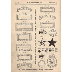 Printable Vintage goodies.
