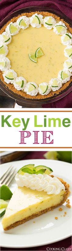 Key Lime Pie - these pie MELTS IN YOUR MOUTH! It's so good! My favorite key lime pie.