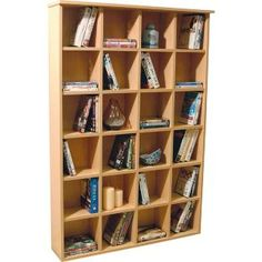 Buy Pigeon Hole Media Unit - Beech Effect at Argos.co.uk - Your Online Shop for CD, video and DVD storage.