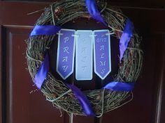 I like this wreath for Lent!