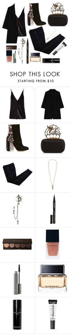 """""""Untitled #480"""" by queenslays ❤ liked on Polyvore featuring Gabriela Hearst, WithChic, Chloé, Alexander McQueen, COSTUME NATIONAL, Erickson Beamon, Smith & Cult, Witchery, MAC Cosmetics and Givenchy"""