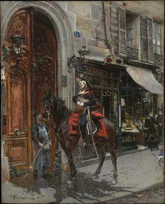 Giovanni Boldini Poster - The Dispatch Bearer