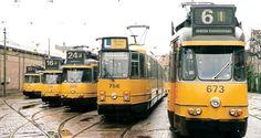 De gele trams; zo gezellig!