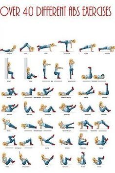 Over 40 Ab Exercises!
