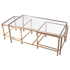 Set Of Three Br Nesting Tables Household Organization Ideas Square End