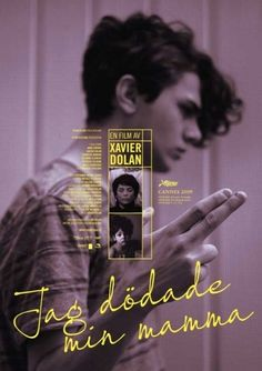 Xavier Dolan / J'ai tué ma mère (I Killed My Mother) / Poster of Swedish Style A Xavier Dolan, Layout Design, Gfx Design, Book Design, Graphic Design Posters, Graphic Design Inspiration, Typography Design, Poster Designs, Poster Layout