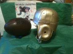 SOLID gold leather football helmet worn by Boston College AS WELL AS ARMY AND ND
