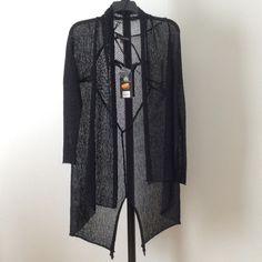 SALE NWT Street edge lengthy cardigan Black. 100% polyester.    biqfrfvib Rock & Republic Sweaters Cardigans
