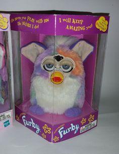 Original Vintage 1998 FURBY Lot 90's Toy Limited Edition RARE RAINBOW GAY PRIDE #TigerElectronics