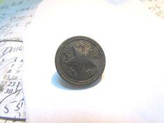 Texas Civil War Coat Button Found at Saylors Creek Va. Crooks Assult