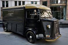 Classic Citroen HY Van with my fav Drink