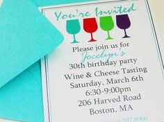 Examples Of Adult Birthday Party Invitations Wine Parties Elegant Wedding