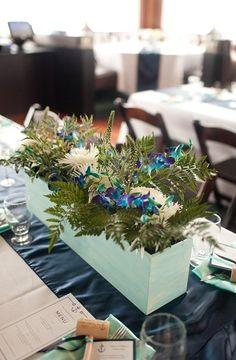 Nautical Flower Centerpieces | ... nautical, Summer, Cape Charles, Virginia, centerpieces, flowers