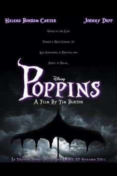 "Tim Burton to Direct ""Poppins""? September was just announced that there will be a new Mary Poppins movie, however it won't be directed by Tim Burton. To find out more, please read. Estilo Tim Burton, Tim Burton Art, Tim Burton Style, Tim Burton Movies List, Tim Burton Johnny Depp, It's Johnny, Little Dorrit, Johny Depp, Dark Disney"