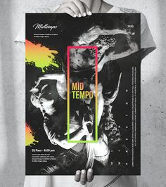 Music Event Poster Template PSD - Size: A2, US Medium, US Tabloid, A3. Event Poster Template, Poster Templates, Big Music, A3, Graphic Design, Medium, Party, Fiesta Party, Parties