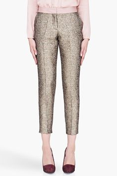 BY MALENE BIRGER Gold Cropped Cortensa Trousers