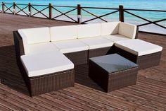 Rattan Modular Corner Sofa Set Garden Furniture L Shape Black + FREE COVER in Garden & Patio, Garden & Patio Furniture, Furniture Sets | eBay
