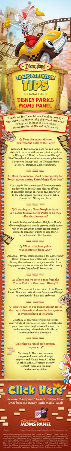 Check out these Disneyland transportation tips from Disney Parks Moms Panel!