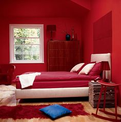 #Red #Bedroom #interiors
