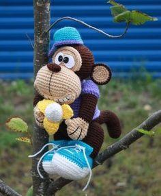 Amigurumitogo Little Bigfoot Monkey : 1000+ images about Haken- aapjes on Pinterest Monkey ...