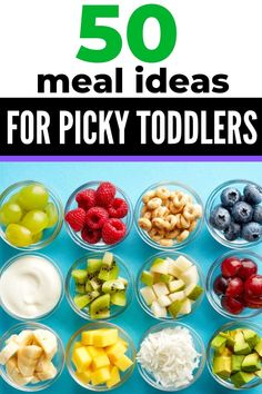 healthy and easy meal ideas for a one year old and picky toddlers. Breakfast, lu… healthy and easy meal ideas for a one year old and picky toddlers. Breakfast, lunch and dinner ideas. Tons of finger food ideas, too! Toddler Dinner Recipes, Picky Toddler Meals, Toddler Lunches, Baby Food Recipes, Kids Meals, Toddler Food, Easy Recipes, Daycare Meals, Toddler Dinners