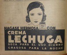 """Años 1950, publicidad """"Belleza Facial""""."""
