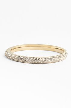 Sparkly gold bling | Nadri pavé bangle.