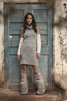 Knitted tunic #knitted #women #outfit