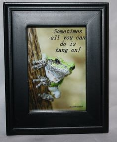 Hanging On Tree Frog Framed 2x3 Desk Top by UtopianDreamsGifts, $28.00