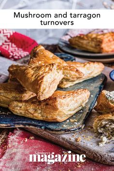 These creamy veggie turnovers are ideal for fuelling a cold winter walk. Wrap them in greaseproof paper to avoid the pastry getting soggy if you're taking them out and about Turnover Recipes, Winter Walk, Sausage Rolls, Sainsburys, Tart, Stuffed Mushrooms, Veggies, Indian, Homemade