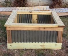 DIY Raised Garden Bed - using corrugated metal