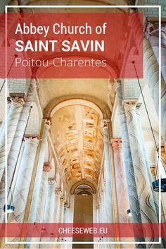 The Abbey of Saint-Savin-sur-Gartempe, in Poitou-Charentes, France, is on the UNESCO World Heritage list for its incredible frescoes depicting scenes from the bible. Travel Info, Europe Travel Tips, Travel Destinations, Travel Guides, Travel Pics, Amazing Destinations, Travel Advice, European Destination, European Travel