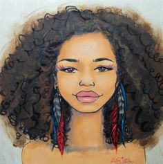 """Stages of the natural hair journey painted by Keturah Ariel.We have a few different options of this one, make sure you select the one you want :).12x12"""" print on wood, no framing needed, comes ready to hang: $8016x16"""" high quality giclee print on heavy archival paper: $4012x12"""" matte print on poster paper: $20"""