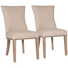 Set of 2 Avery Jute Fabric Dining Chairs