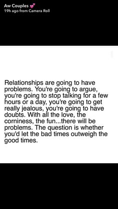 If that is how it goes, dont let it go!