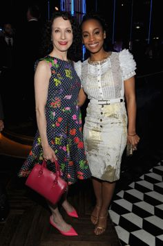 Bebe Neuwirth and Anika Noni Rose attend the 2014 Tony Honors Cocktail Party at the Paramount Hotel. (Photo by Craig Barritt/Getty Images for Tony Awards Productions) #TonyAwards cc @The Tony Awards