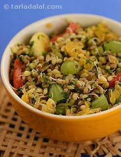 Sprouting increases B-complex vitamins of the beans... when tossed into a salad with fruits, it helps to freshen up your skin.