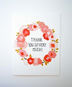 thank you so very much- card & envelope